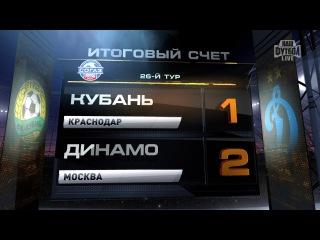 Обзор матча: Футбол. РФПЛ. 26-й тур. Кубань - Динамо 1:2