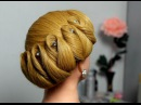 Hairstyle for medium hair. Wedding updo