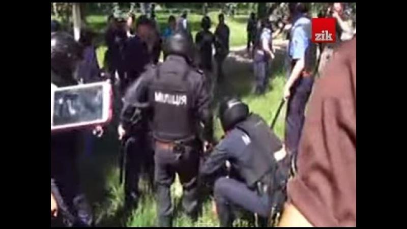 «Марш рівності» у Києві зірвали агресивні молодики є затримані і поранені 06.06.15
