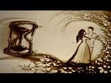 Love story Песочная анимация История любви Маши и Сергея