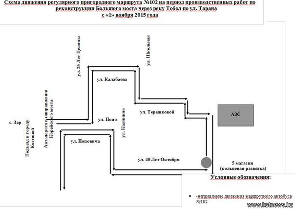 Схема движения общественного