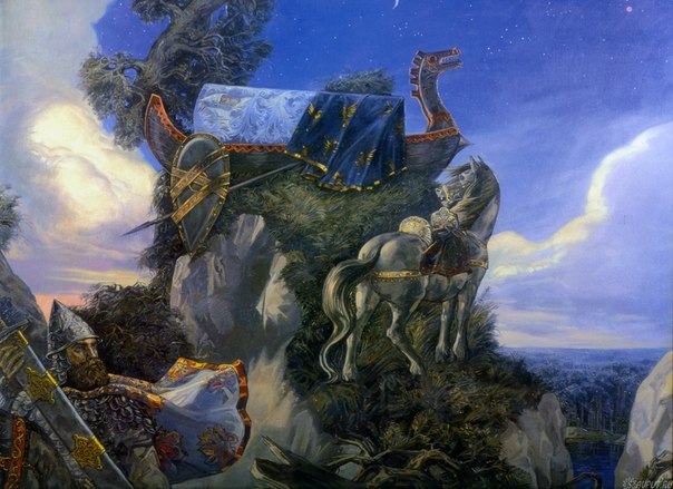 картина васнецова три богатыря: