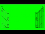 Gate Open and Closed - Animation Green Screen