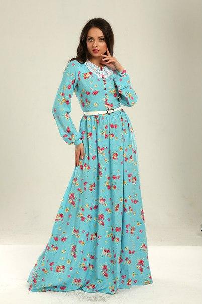 Платья в пол с длинным рукавом на каждый день