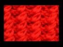Канадская или рельефная резинка вязаная спицамиCanadian or textured elastic band crochet knitting