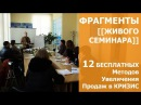 Фрагменты живого семинара 12 Бесплатных Методов Увеличения Продаж в Кризис!