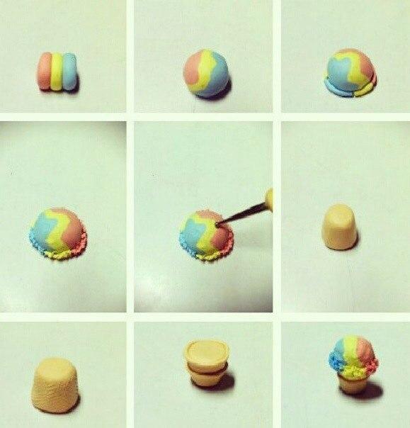 Как сделать еды из пластилина