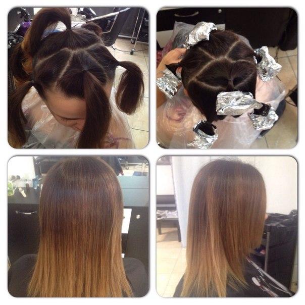 Как сделать на волосах балаяж