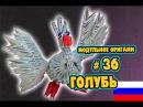 МОДУЛЬНОЕ ОРИГАМИ #36 ГОЛУБЬ