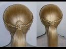 Причёски в школу за 5 минут для средних/длинных волос самой себе. Плетение косичек