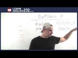 Math in English For ESL students - Vocabulary Lesson 29 - Numbers