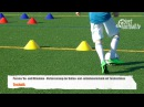 Fussballtraining Ballan und Mitnahmetechnik mit Torschuss Ballkontrolle Technik