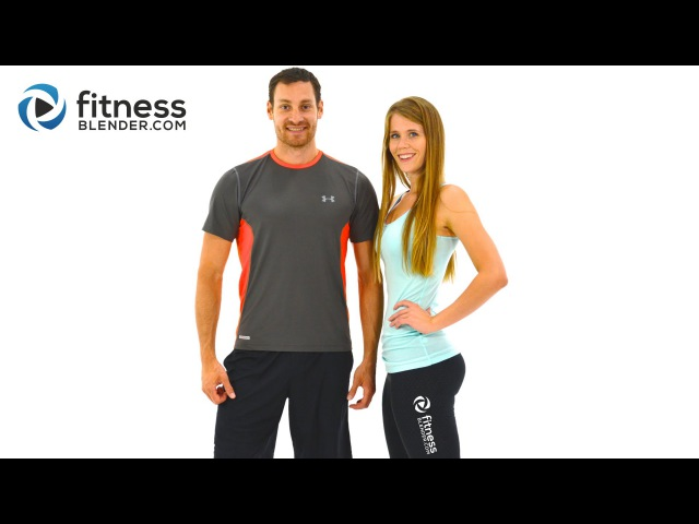 FitnessBlender - Day 5. Challenge to Burn Fat and Build Lean Muscle. HIIT Cardio Butt Thigh Workout