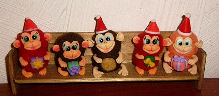 валяные обезьянки