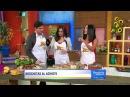 Daniel Arenas y Ana Brenda, de Corazón Indomable, cocinaron junto a Karla unos deliciosos pinchos de pollo al achiote.
