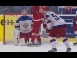 Россия - Дания 5-2 Обзор матча все голы шайбы Хоккей 2015 6 мая