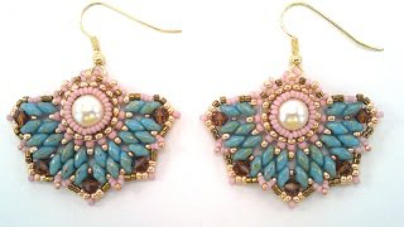 Beading4perfectionists: Art Deco stylish earrings beading tutorial