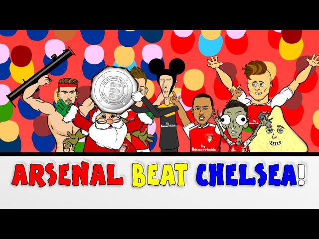Wenger BEATS Mourinho! Arsenal vs Chelsea 1-0 Community Shield 2015 (Cartoon Goals Highlights)