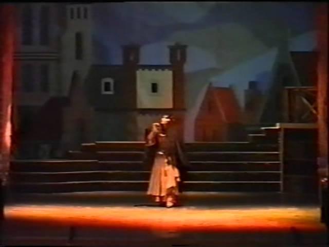 В.М. Кузнецов в партии Валентина, опера Фауст