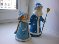 Дед мороз и снегурочка из соленого теста