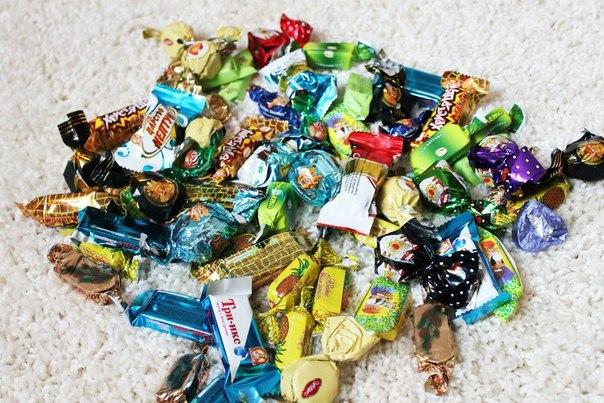 фото красиво выложенные конфеты