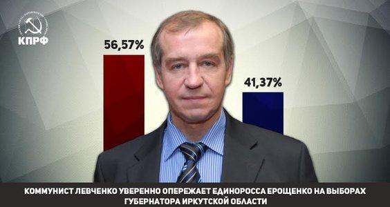Коммунист Сергей Левченко победил единоросса Сергея Ерощенко в борьбе за кресло губернатора Иркутской области