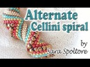 Alternate Cellini spiral tutorial - How to make a zig zag Cellini spiral - Peyote stitch Beading