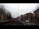 Пермь.Трамвай.5 маршрут.1 часть.Пермь II-Драмтеатр-Центральный рынок-АО Инкар
