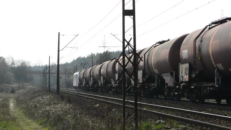 Traxx E483-255 LOTOS Kolej na Towarowej Obwodnicy Bydgoszczy 13.04.15