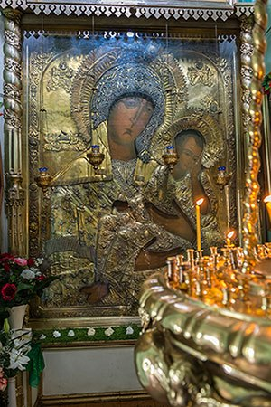 старорусская икона божьей матери
