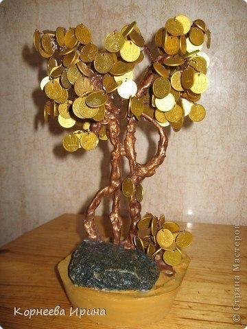Как сделать своими руками дерево из монеток