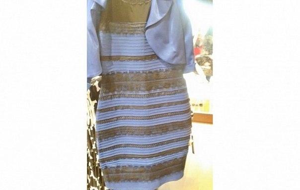 Белое синее платье загадка