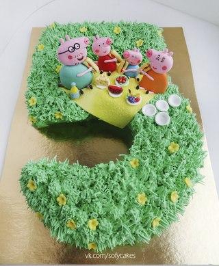 торт из мастики свинка пеппа фото