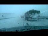 Снежная буря АВАРИИ БИЙСК - БАРНАУЛ на  М 52 - 26 ноября 2014 (Barnaul 22)