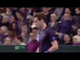 HD Andy Murray vs Donald Young Funny Moment DAVIS CUP 2015