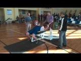 Андрей Ермолович. Жим лежа. 215 кг без экипировки в в/к до 125 кг на Кубке Полоцка-2015.