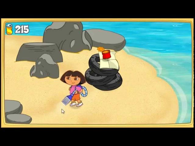Мультик игра Даша путешественница приключение русалки развивающая игра для детей Dora the Explorer