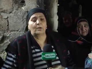 Пожар в 6-м магале в Дербенте