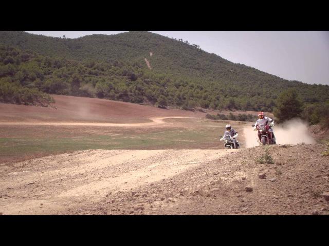 Marc Marquez Joan Barreda test the new Honda CRF1000L Africa Twin