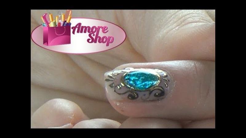 Дизайн ногтей с камнями из геля