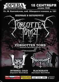 18.09 - Forgotten Tomb (IT) +support, клуб Opera