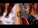 Wild Cat Airbrush Tattoo Sleeve by Tattooed Sister