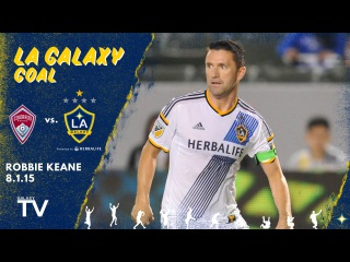 GOAL: Robbie Keane finds the lower right corner