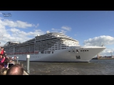 Cruise ship MSC Splendida playing