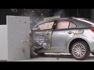 Что будет с водителем, если Suzuki Kizashi врежется в стену