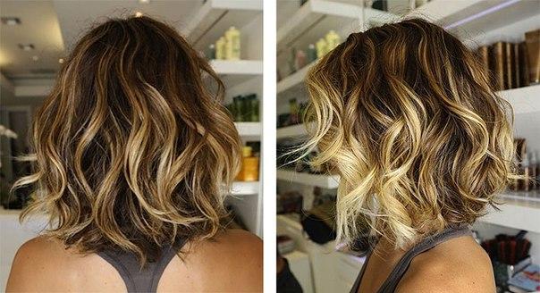 балаяж на волосы до плеч фото