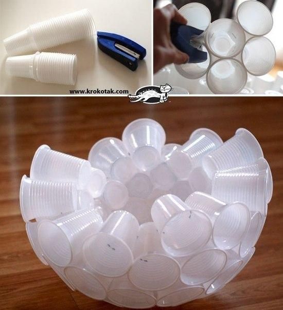 Поделки с пластиковых стаканчиков