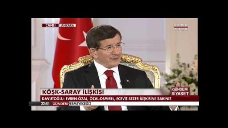 Başbakan Davutoğlu, Gündem Siyaset Programında Soruları Yanıtladı 27 Mart 2015