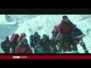 Universal Studios accidentally sent the BBC a scene from Everest with no sound effects on it. It's weird