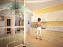 Дизайн интерьера кухни студии в стиле минимализм